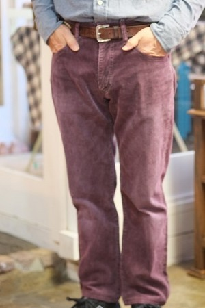 【SALE 50%OFF 】Corduroy Pants C/# D.Wine