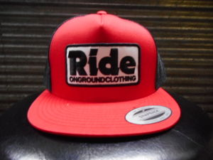 RIDE ongroundclothingキャップ レッド