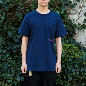 "SAY! / セイ!| "" DRAWCORD TEE "" - Navy"