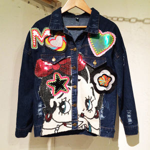 Betty Boop Spangle Denim Jacket