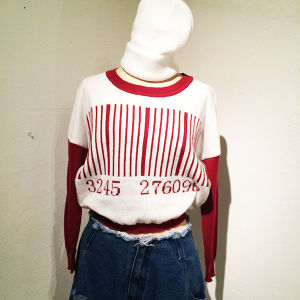 Barcode Short Knit / Red
