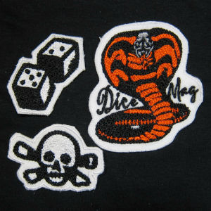 DicE CHAIN STITCHED PATCHES. PACK OF 3