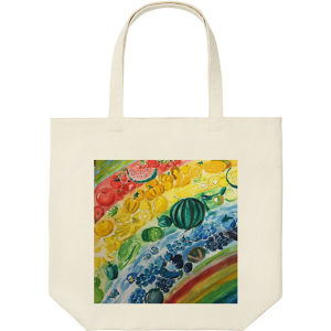 Rainbow Fruit Tote Bag