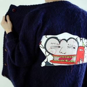 Lactose Intoler-art(ラクトス) 1off remake knitted jacket