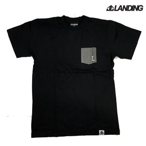 【LANDING】DENIM POCKET TEE / Lサイズ -BLACK-