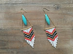 Indian turquoise earrings