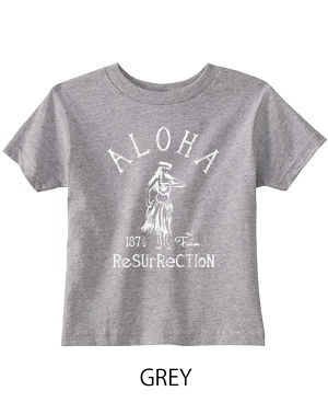 [KID] ALOHA RESURRECTION TEE GREY