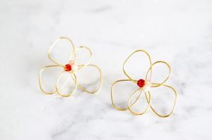 Elegant flower pierce*pink