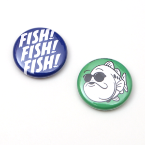 FISH! & OokuchiKUN BADGE 25mm