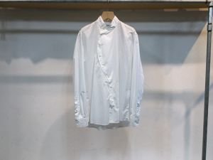 "semoh""Stand Collar Shirt White"""