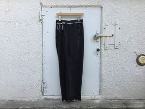"MAISON EUREKA "" VINTAGE REWORK BIGGY PANTS  BLACK  A """