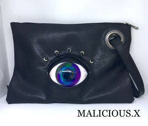 eye clutch bag / blue(marble)