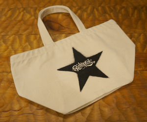 STENCIL STAR Mini Tote Bag White