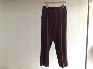 "30%OFF theSakaki ""semiwide pants Brown""OVERRIVER別注"
