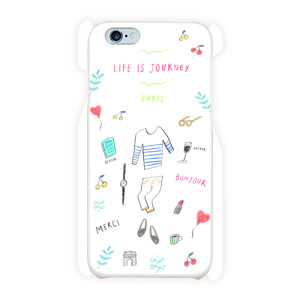 { LIFE is JOURNEY } PARIS スマホケース iPhone6/6s 白