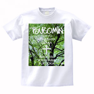 TSUBOMIN / ALL NIPPON TOUR T-SHIRT TREE PHOTO WHITE
