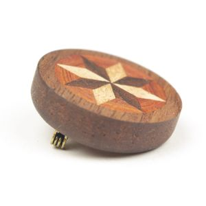 wooden inlaid charm 〜brooch〜