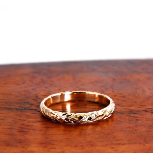 Hawaiian Jewelry 14K GOLD 3mm幅RING