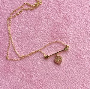 K18YG #0001 HEART ARROW NECKLACE