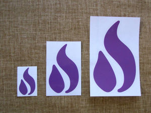 OUTFLOW  Cutting Sticker :: Purple / 小