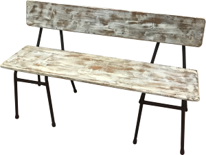 Shabby Chic Wooden Bench