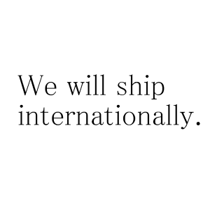 Infomation - We will ship internationally.