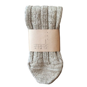 <re-specked cotton rib and cable socks 「Tortoise」/ saredo-されど->  BEIGE