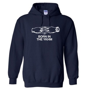 BORN IN THE YKHM PULLOVER HOODIE NVY