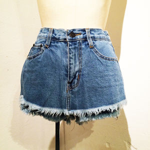 Denim Skirt Short Pants / Light Blue