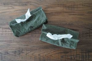 USED MILITARY FABRIC BOX TISSUE COVER