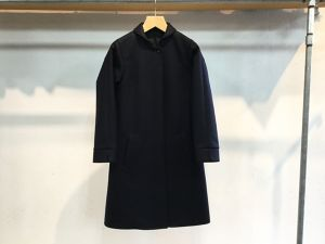 "Womens semoh""wool/cashmere round collar coat black"""