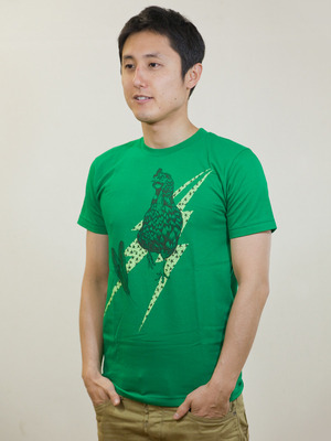 Rooster T-shirt Green