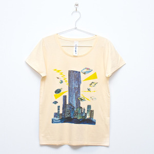 """City T-shirt Cream(Lady's)""ArtLAB×最後の手段"