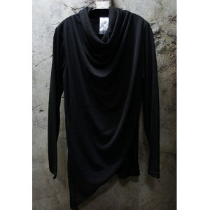 JOHAN DRAPE NECK LONG SLEEVE TEE