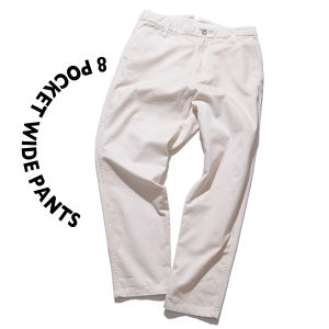 8 pocket Wide Pants [ SP-White ]