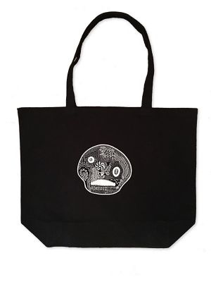 Hand Drawing Tote Bag / Skull
