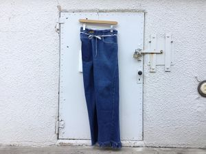 "MAISON EUREKA "" VINTAGE REWORK BIGGY PANTS BLUE "" C"