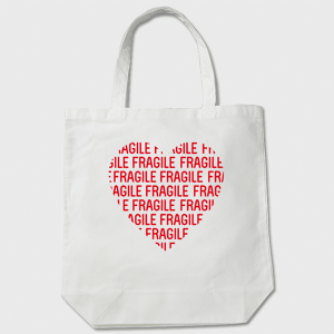 FRAGILE HEART TOTE トートバッグ 白    送料無料