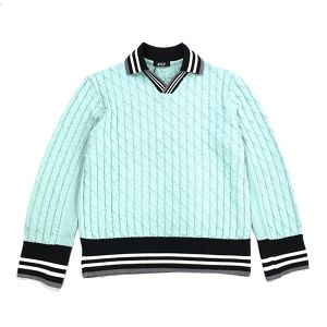 D.TT.K OVERSIZE KNIT POLO LIGHT BLUE