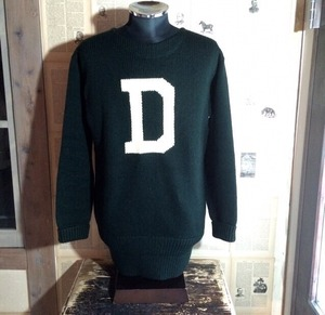 1950s J.W BRINE college sweater