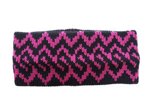"COTTON HAIR BAND ""NORDIC"" BLACK×PINK"