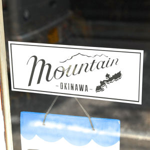 Mountain Original LOGO ステッカー / 枠 WHITE