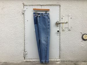 "MAISON EUREKA "" VINTAGE REWORK BIGGY PANTS BLUE "" B"