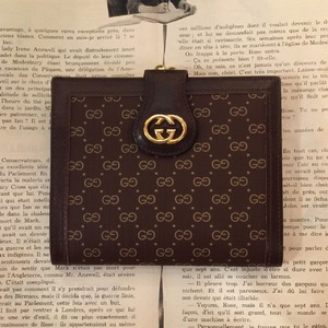 GUCCI leather × pvc wallet