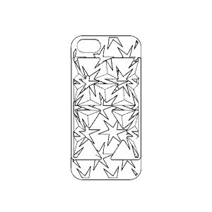 Auxetic pattern iPhone case 5 / SE_White