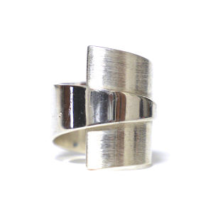Vintage Sterling Silver Mexican Modernist Ring by Dominique Dinouart