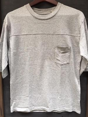 edit clothing - Big football 3/4 sleeve tee