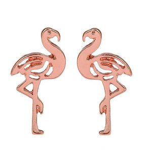 Metal FLAMINGO post Pierce (EE0194)