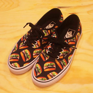 -VANS- Authentic (Late Night) BLACK / HAMBURGERS