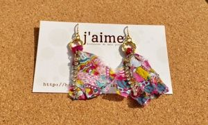j'aime Swallow tail  ピアス ピンク